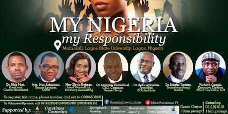 My Nigeria; My Responsibility tickets