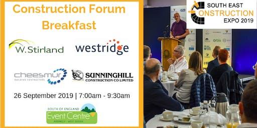 Construction Forum Breakfast