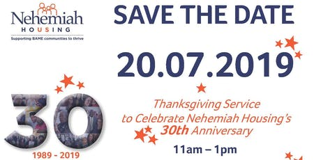 Nehemiah Housing's 30th Anniversary Thanksgiving Service tickets