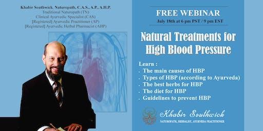 Webinar:  Natural Treatments for High Blood Pressure
