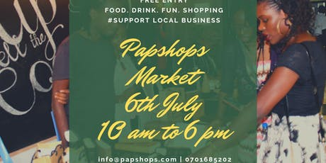 Papshops Pop-up Market tickets