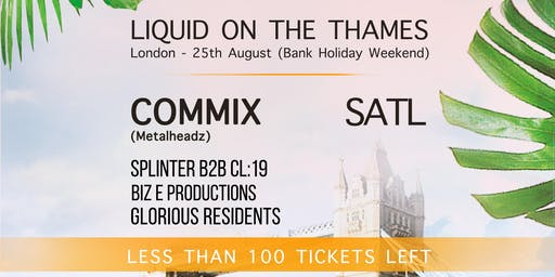Liquid on The Thames - DnB Boat Party