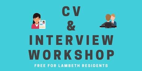 CV & Job Interview Workshop tickets