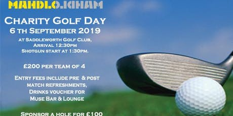 Mahdlo Golf Day tickets