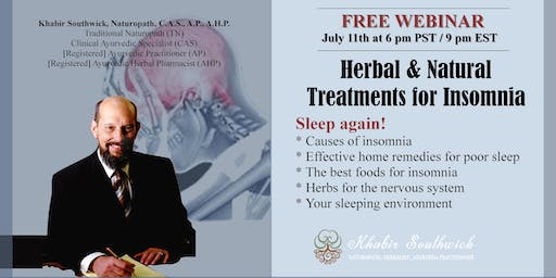 Webinar:  Herbal & other Natural Treatments Insomnia