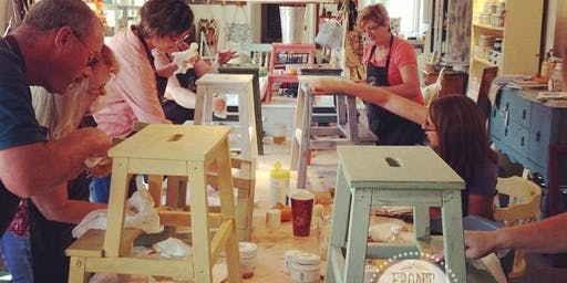 Milk Paint Step Stool Workshop