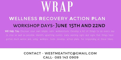 WRAP Wellness Recovery Action Plan tickets