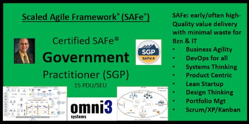 SGP- SAFe for Government [SGP] O'Fallon, Illinois, 15 PDUs