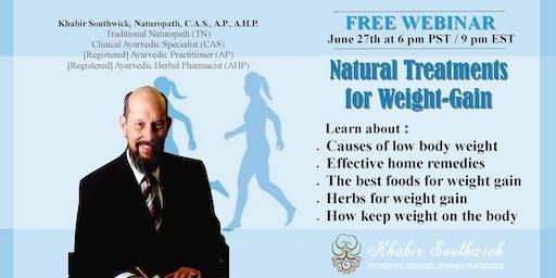 Webinar: Treatments for being Underweight & Weight-Gain