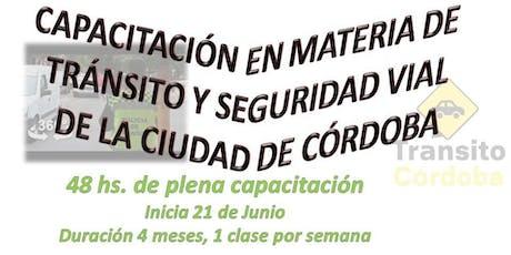 Capacitación en Materia de Tránsito y Seguridad Vial de Ciudad de Córdoba  entradas