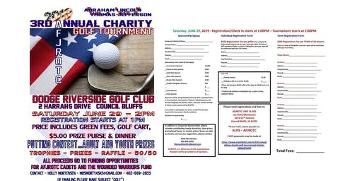 3rd Annual Afjrotc Charity Golf Tournament