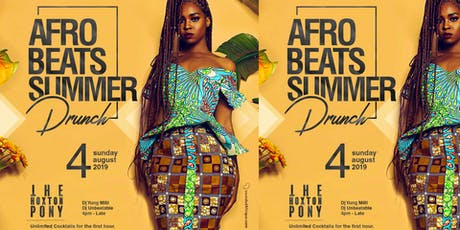 Afrobeats Summer Drunch tickets