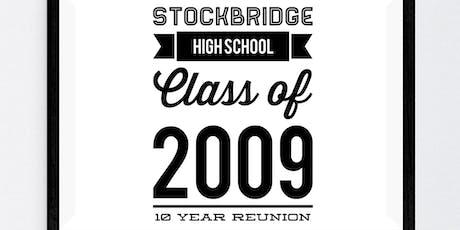 Stockbridge High School Class of 2009 - 10 year reunion tickets