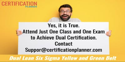 Dual Lean Six Sigma Yellow and Green Belt with CP/IASSC Exam in Scottsdale