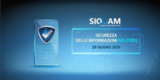SICUREZZA DELLE INFORMAZIONI - ISO 27001