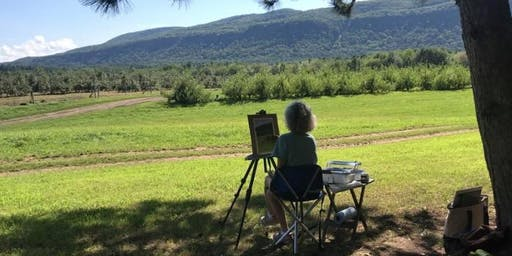 Plein Air Painting at Thatcher Park with Takeyce Walter