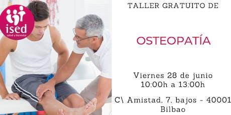 Taller de Osteopatía 28 de junio mañana tickets