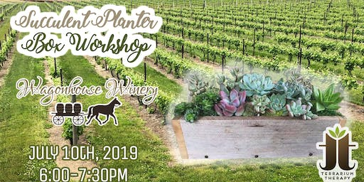 Rustic Succulent Box Workshop at Wagonhouse Winery