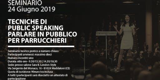 Seminario Tecniche di Public Speaking Parlare in pubblico per Parrucchieri