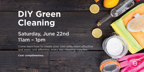DIY Green Cleaning tickets