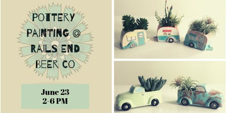 Pottery Painting at Rails End Beer Co (6/23) tickets