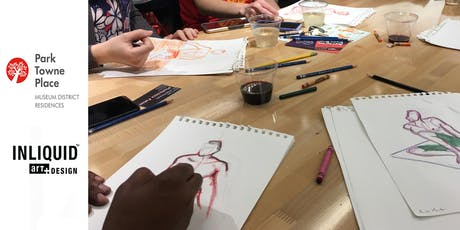 Drink and Draw @ Park Towne Place - Summer by the Pool! tickets