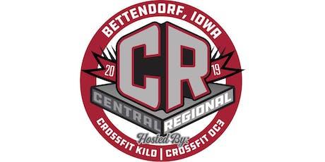 The Central Regional 2019 - Volunteer tickets