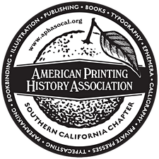 The American Printing History Association, Southern California Chapter  logo