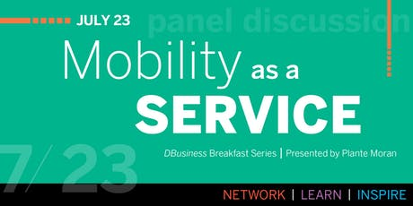 DBusiness Breakfast Series: Mobility as a Service tickets