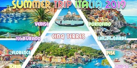 Summer Trip Italia 2019 ☼ Roadtrip août ☼ Cinq Terres, Venise billets