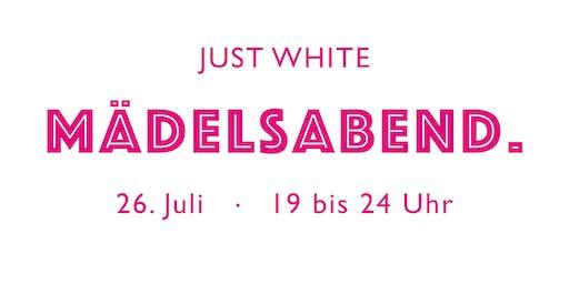 Just White Mädelsabend Lounge für 10 Personen