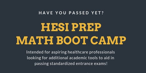 HESI MATH BOOT CAMP