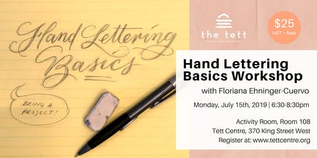 Hand Lettering Basics Workshop  tickets