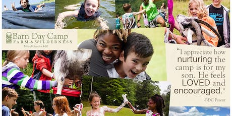 Bring A Friend Open House at the Barn Day Camp tickets