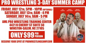 Pro Wrestling 3-Day Summer Camp w/ Bob Evans, Tim...