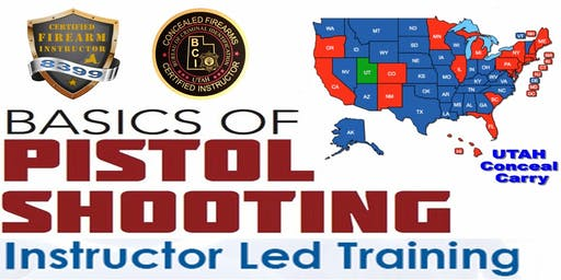 Combo Class SPL • Basic Pistol Safety & UTAH Conceal • (2 Eve Session) Save $150!