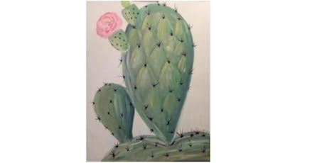 Brushes & Brews - Cactus tickets