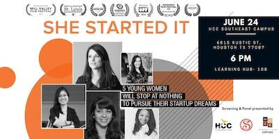 She Started It: Film Screening & Women Entrepreneurs Panel