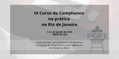 III Curso de Compliance na prática no Rio de Janeiro