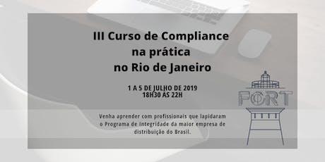 III Curso de Compliance na prática no Rio de Janeiro ingressos