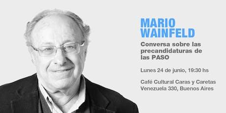 Socios P12: Mario Wainfeld entradas