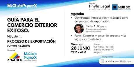Mi Club Pymex - Exportar: Mod.1 Proceso exportador entradas