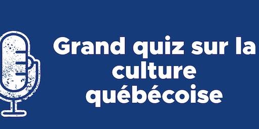 Grand quiz sur la culture québécoise- Activité de financement