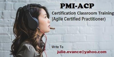 PMI-ACP Classroom Certification Training Course in Carmel Valley, CA