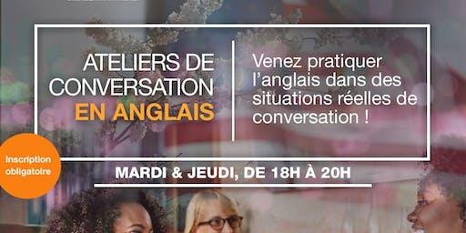 Ateliers de conversation en anglais