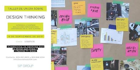 """Taller de un día sobre """"Design Thinking"""" entradas"""