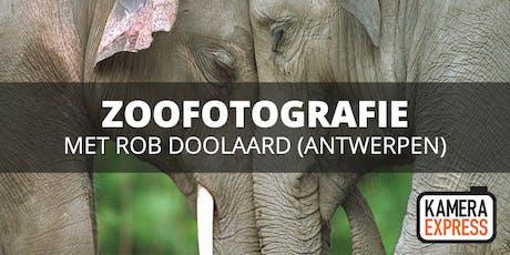 Zoofotografie Antwerpen met Rob Doolaard tickets
