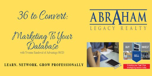 36 to Convert - Marketing to Your Database