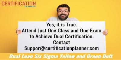 Dual Lean Six Sigma Yellow and Green Belt with CP/IASSC Exam in Athens