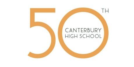 Canterbury High School 50th Anniversary Event billets